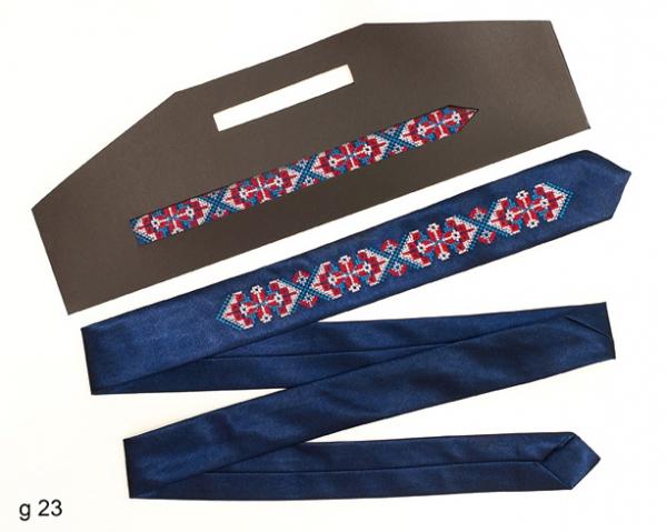 Узкий галстук с вышивкой Славомил