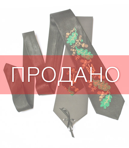 Галстук с вышивкой Дубодан