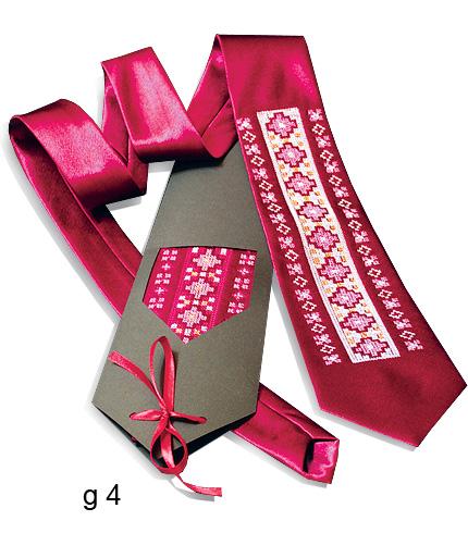 Галстук с вышивкой Косак_0