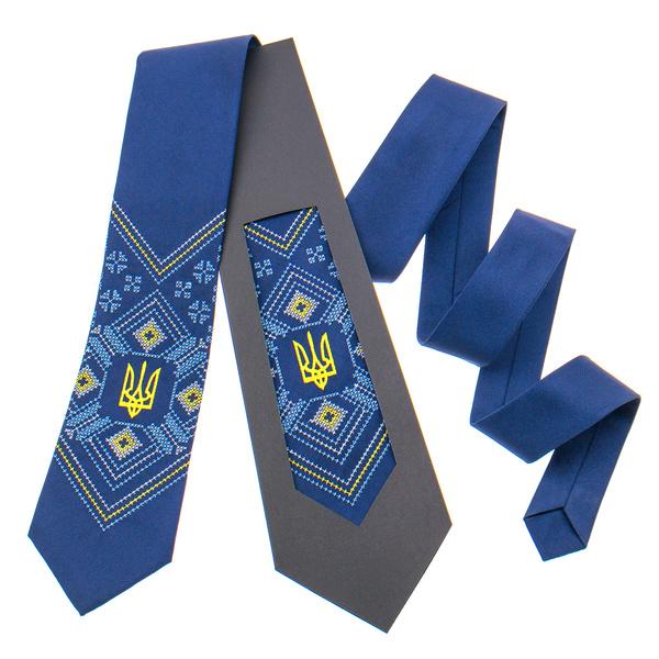 Вышитый галстук с трезубом №821