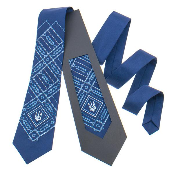 Вышитый галстук с трезубом №822