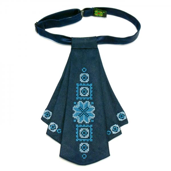 Женский галстук жабо синий