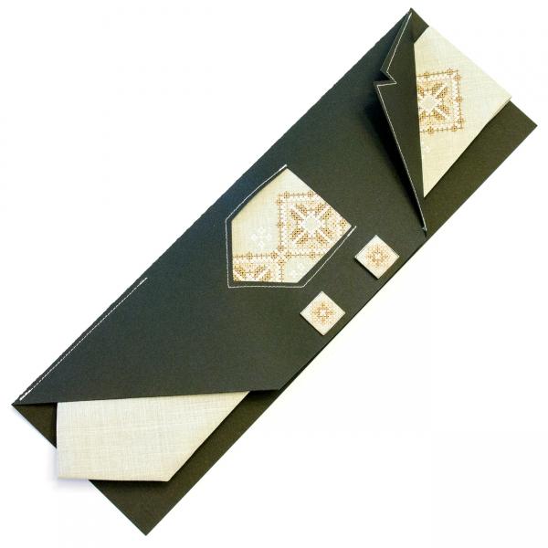 Вышитый галстук с запонками Горан