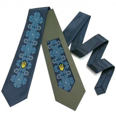 Вышитый галстук с трезубцем Киеслав