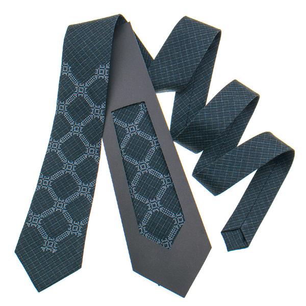 Классический галстук с вышивкой №839