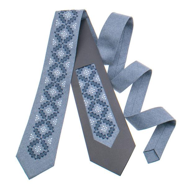 Классический галстук с вышивкой №850