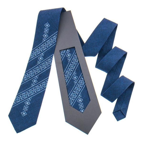 Классический вышитый галстук №846
