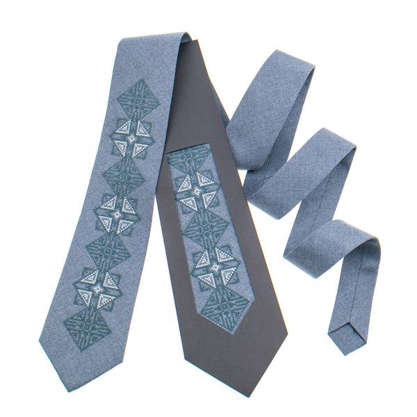 Классический галстук с вышивкой №848