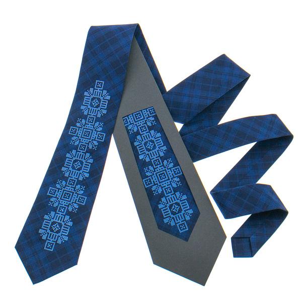 Классический галстук с вышивкой №917
