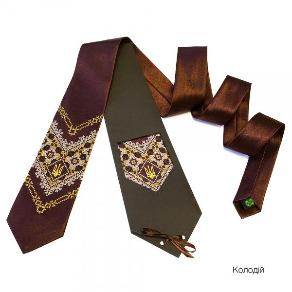 Галстук с вышивкой Колодий