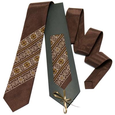 Коричневый галстук №611