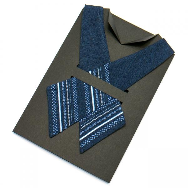 Вышитый кросс-галстук №700