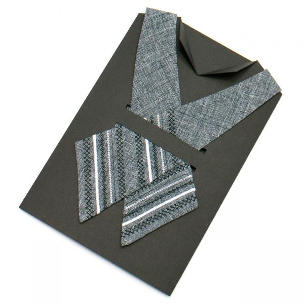 Вышитый кросс-галстук №702