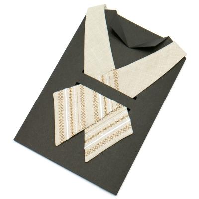 Вышитый кросс-галстук №703