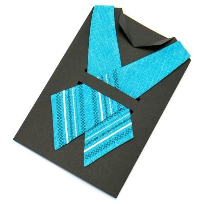 Вышитый кросс-галстук №704