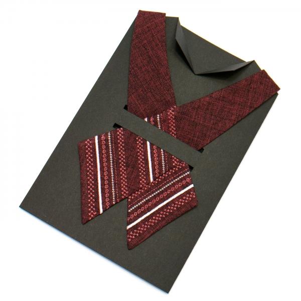 Вышитый кросс-галстук №706