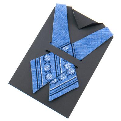 Вышитый кросс галстук №870