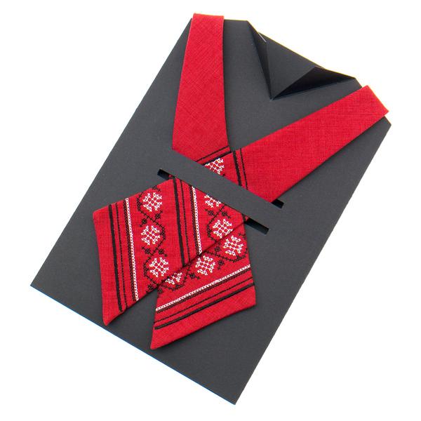 Вышитый кросс галстук №871