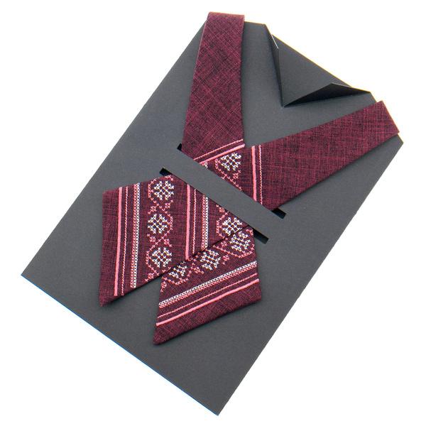 Кросс галстук с вышивкой №872