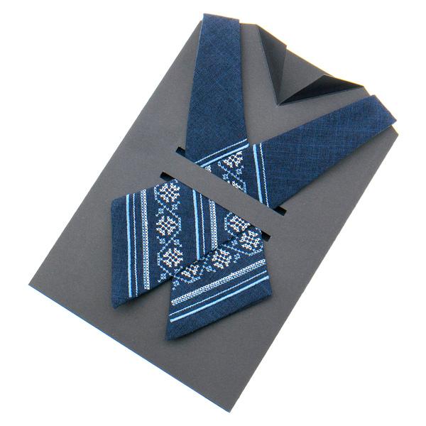 Кросс галстук с вышивкой №873