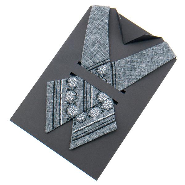 Кросс галстук с вышивкой №874
