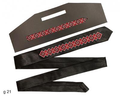Узкий галстук с вышивкой Лолит