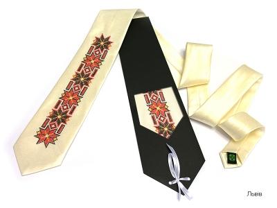 Галстук с вышивкой Львив