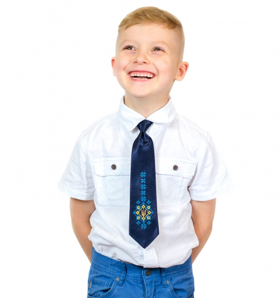 Детский галстук с вышивкой Малай