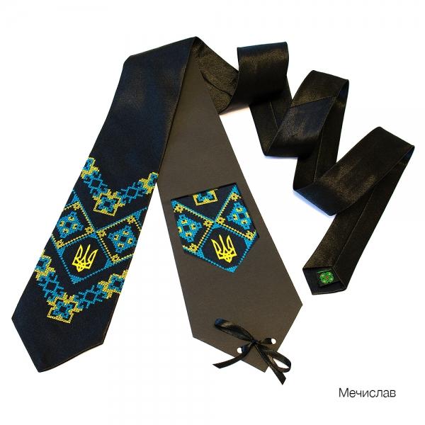Галстук с вышивкой Мечислав