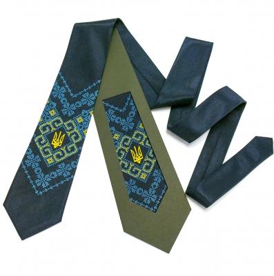 Вышитый галстук с трезубцем Мырослав