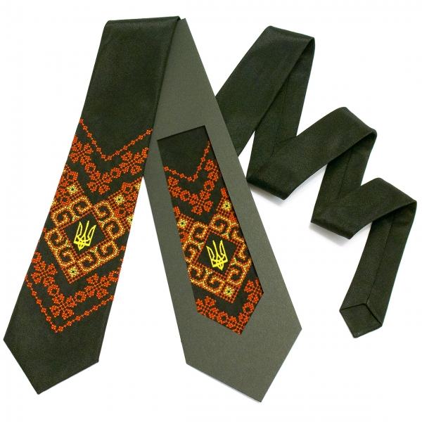 Вышитый галстук с трезубцем Надий