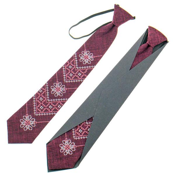 Подростковый вышитый галстук №925