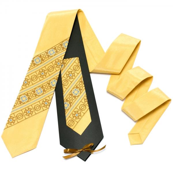 Песочно-желтый галстук №612