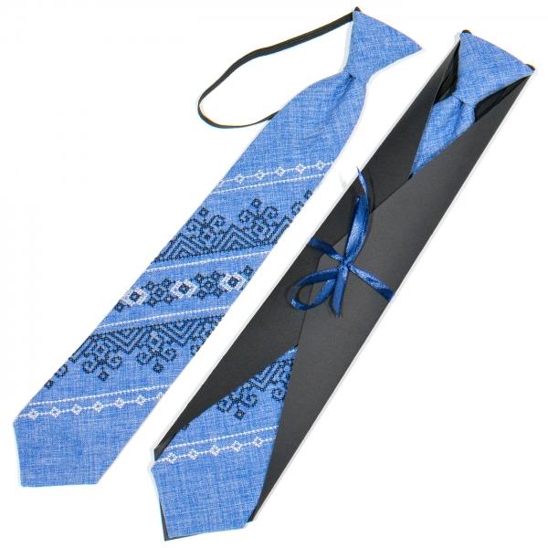Подростковый вышитый галстук №784