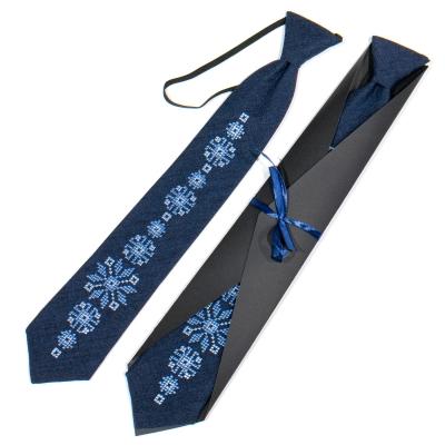 Подростковый вышитый галстук №785