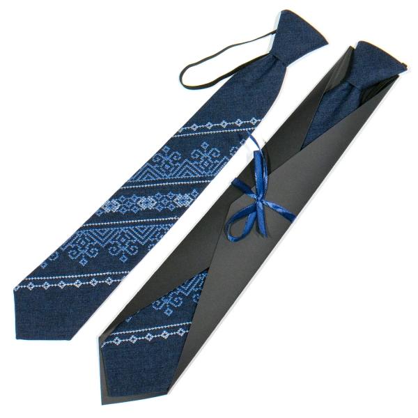 Подростковый вышитый галстук №787