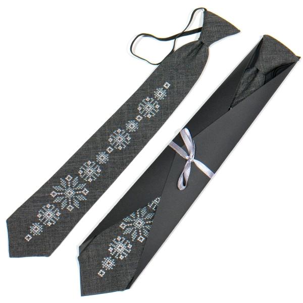 Подростковый вышитый галстук №788