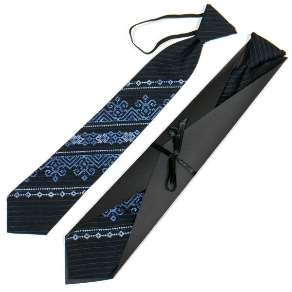 Подростковый вышитый галстук №789