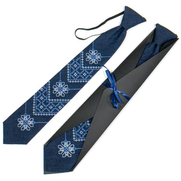Подростковый вышитый галстук №791