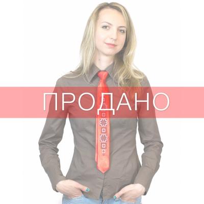 Узкий галстук с вышивкой Ружа
