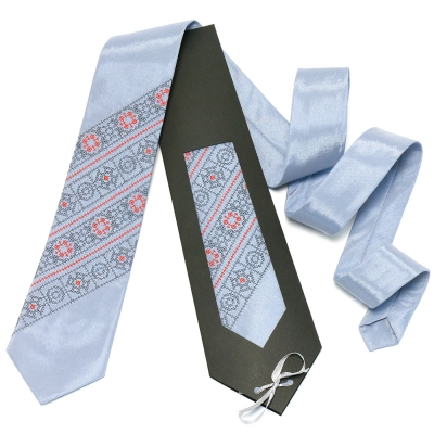 Серый галстук №608