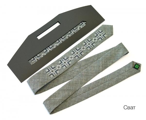Узкий галстук с вышивкой Сват