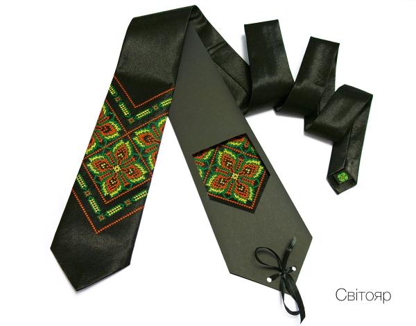 Галстук с вышивкой Свитояр