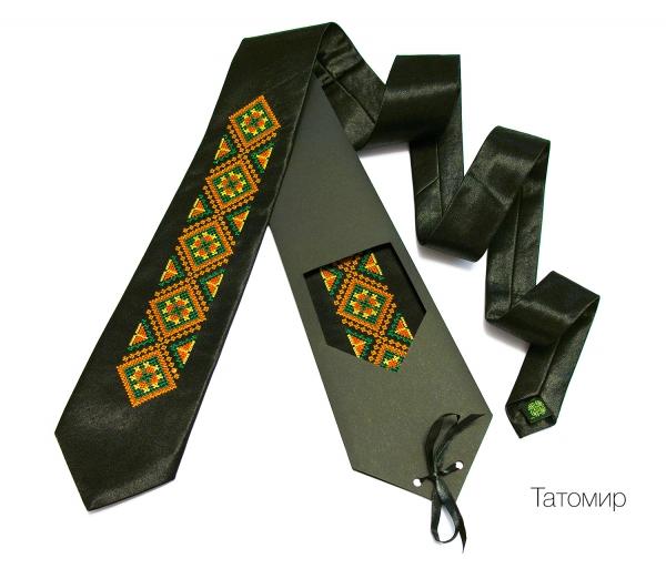 Галстук с вышивкой Татомир