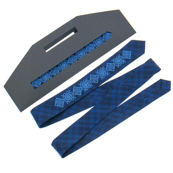 Узкий галстук с вышивкой №918