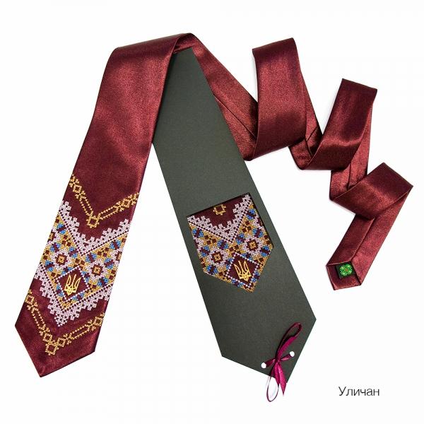 Галстук с вышивкой Уличан