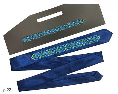 Узкий галстук с вышивкой Ведан