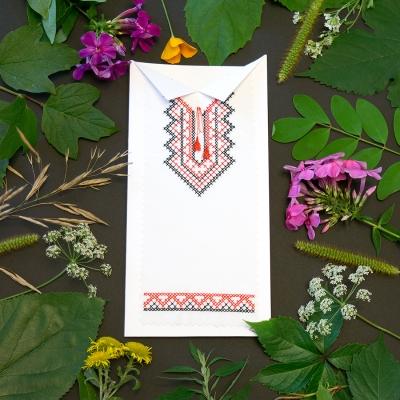 Вышитая открытка №621