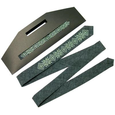 Модный тонкий вышитый галстук №661