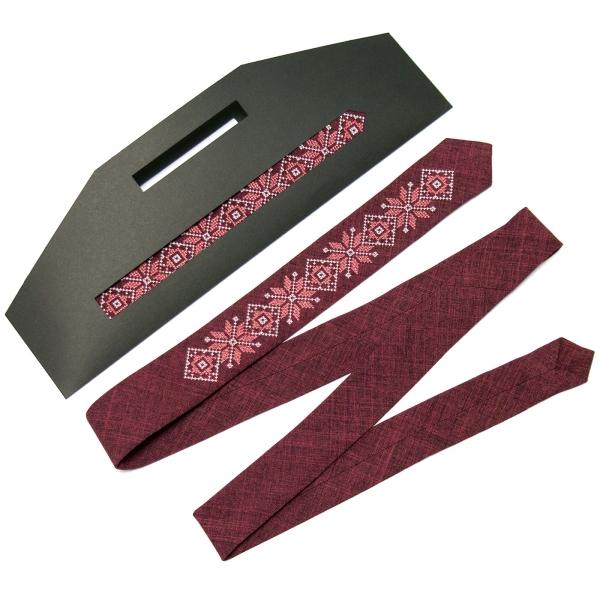 Модный тонкий вышитый галстук №662